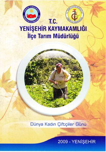 Kadın çiftçiler günü tasarımı tek sayfa