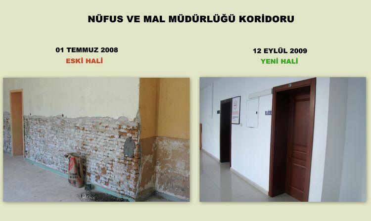 Nüfus ve Mal müdürlüğü koridoru