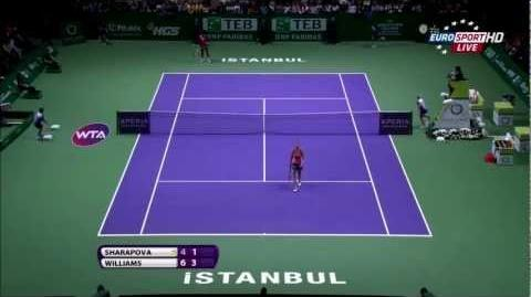 HD Serena William vs Maria Sharapova Final Highlights - WTA Championships Istanbul 2012