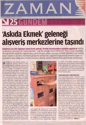 Zaman gazetesi 01 .08. 2011