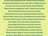 Mühr-ü Süleyman (A.S) - Yunus Emre şiirleri