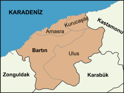 636px-Districts of Bartın