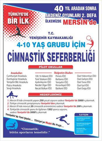 Yenişehir'de Cimnastik Seferberliği Afişi