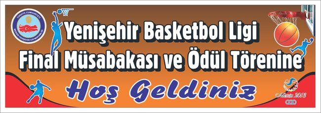 Yenişehir basketbol afişi.