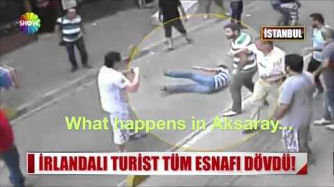 Aksaray'da Tüm Esnafı Döven İrlandalı Boksör Turist (15 Kişiye Saldırdım Cover)