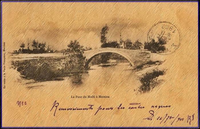 Müftü köprüsü 1902 de bir Fransız kartpostalı