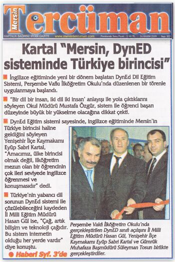 Tercüman gazetesi 17 ksım 2009