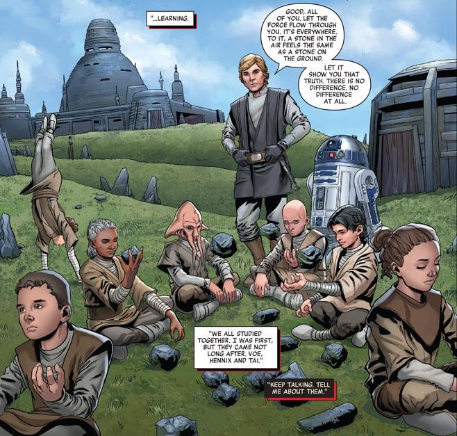 Luke teaching Jedi