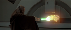 Jedi cutting door