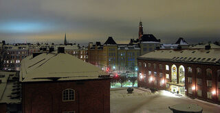 A stockholm night in winter