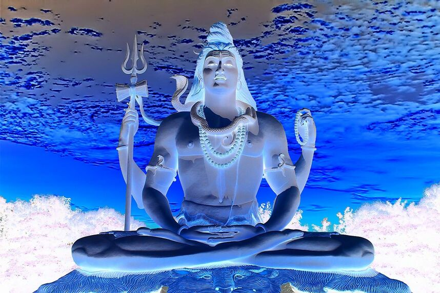 Lord-shiva (inverse color)