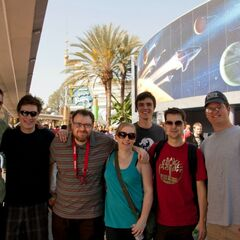 Hannah, Lewis, Simon and some other guys at Blizzcon.