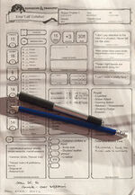 HighRollers Live! Colt character sheet