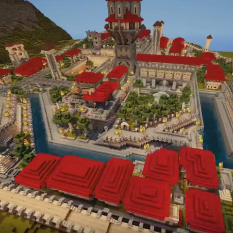 Ariel view of the Kingdom of Dale