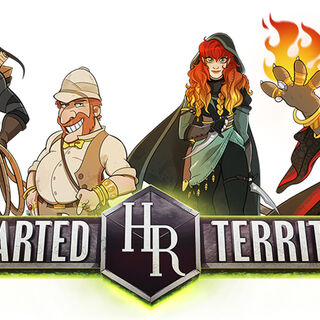 HighRollers: Uncharted Territory logo with characters (white background)