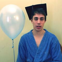 Kogie and a balloon in one of his YouTube videos