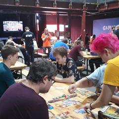Yogcon 2019 Board Game Area.