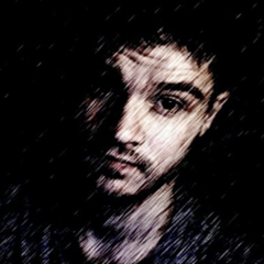 A photo of Will with an effect on it.