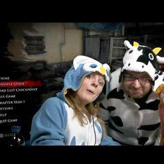 Hannah, Simon and Kim all featuring brilliant onesies.
