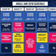 Week 3 schedule of the Jingle Jam