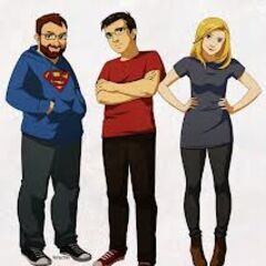 A drawing of Lewis, Simon and Hannah, drawn by <a href=