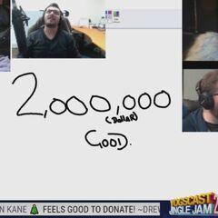 Two million raised on night 2