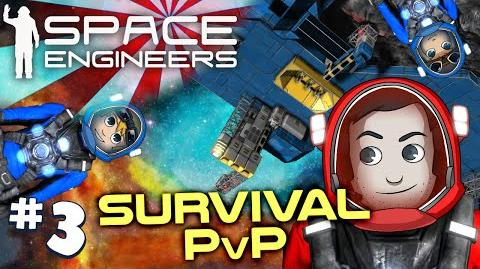 Space Engineers PVP Ep3 Mega Missiles!