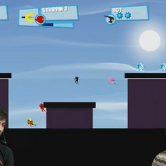 Strippin and Sparkles* playing Speed Runners on the second day of the 2013 streams.