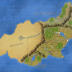 The world of Arrak, where the events of the <i>Lightfall</i> campaign take place. Drawn by Mark Hulmes.