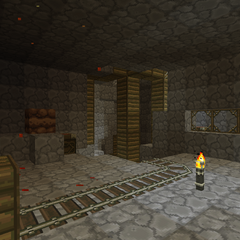 First cavern in the mines.