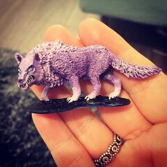 Miniature of Elora in dire wolf form