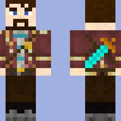 Lewis' Minecraft skin.