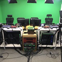 A look inside the livestream room of the Jingle Jam 2018