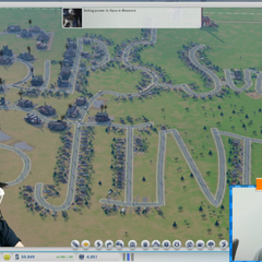 Sips and Sjin playing SimCity with Duncan on the fourth day of streaming, 2013.