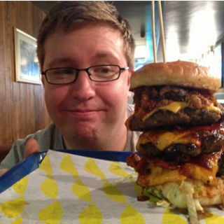 Dave and a giant burger.