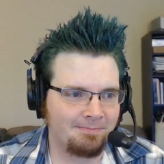 Ridge with his hair dyed blue.