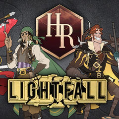 Main characters of <i>Lightfall</i>. From left to right: Jiǔtóu, Cam, Reynard, Elora.
