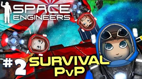 Space Engineers PVP Ep2 The Red Fleet