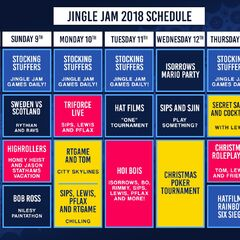 Week 2 schedule of the Jingle Jam