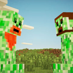 Creeper Simon (left) in <a href=