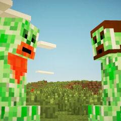 Creeper Simon (left) and Creeper Lewis (right)