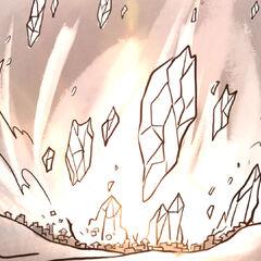A huge chunk of Pelor's Light decimates Firstlight.