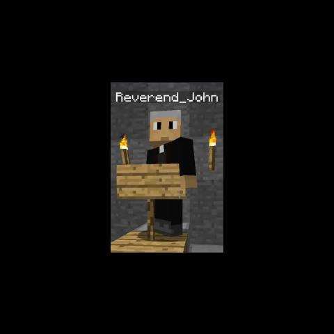 Reverend John in Season 1, in his church.