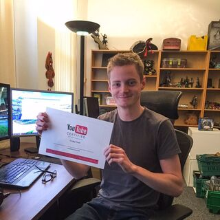 Craig with his YouTube Certificate.