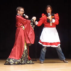 Mark Hulmes & Matt Mercer at AyaCon 2013.