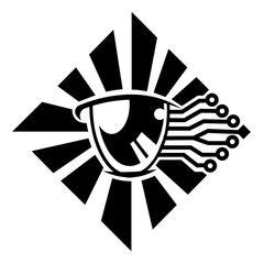 Area 11's old 'Digital Eye' logo.