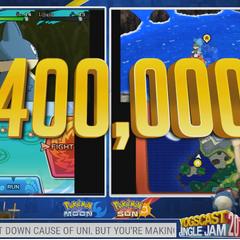 Hannah and Caff at $400,00 of donatoins.