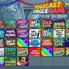 The 2014 Jingle Jam livestream calendar