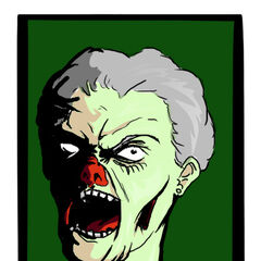 Fan art, by Joe Chico, of Granny Bacon after her reanimation.