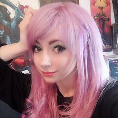Bouphe with her purple (pink) hair